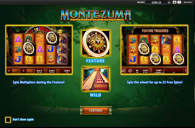 montezuma slot feature