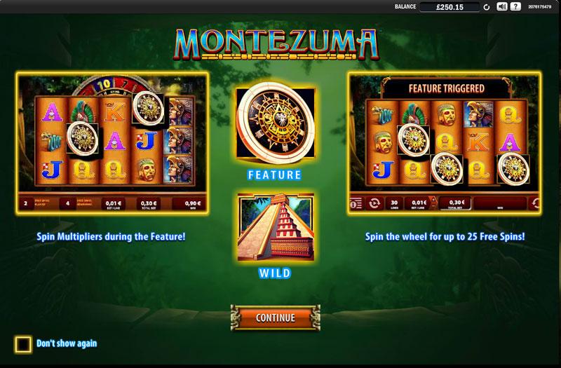 montezuma slot feature